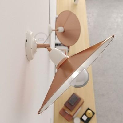 Fermaluce 90°aus Porzellan, 90° Grad verstellbare farbenfrohe Wandleuchte mit Schwenk-Lampenschirm