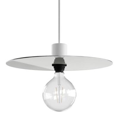 Ellepì ist ein übergroßer Lampenteller aus Dibond für Pendelleuchten im Außenbereich, Durchmesser 40 cm - Made in Italy