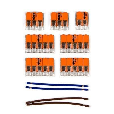 Kit Verbindungsklemme WAGO kompatibel mit Kabel 2x für Lampenbaldachin mit 8 Löchern