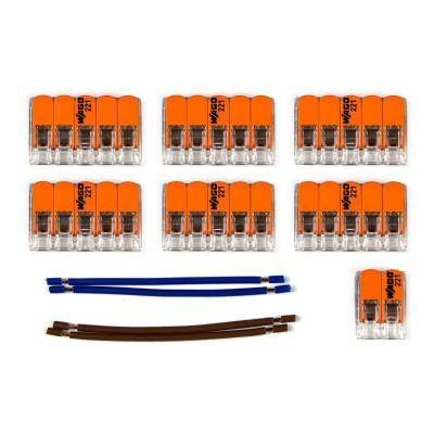 Kit Verbindungsklemme WAGO kompatibel mit Kabel 2x für Lampenbaldachin mit 10 Löchern