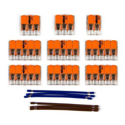 Kit Verbindungsklemme WAGO kompatibel mit Kabel 2x für Lampenbaldachin mit 11 Löchern