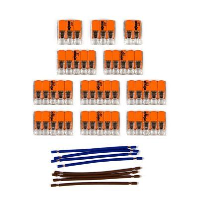 Kit Verbindungsklemme WAGO kompatibel mit Kabel 2x für Lampenbaldachin mit 14 Löchern