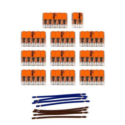 Kit Verbindungsklemme WAGO kompatibel mit Kabel 2x für Lampenbaldachin mit 15 Löchern