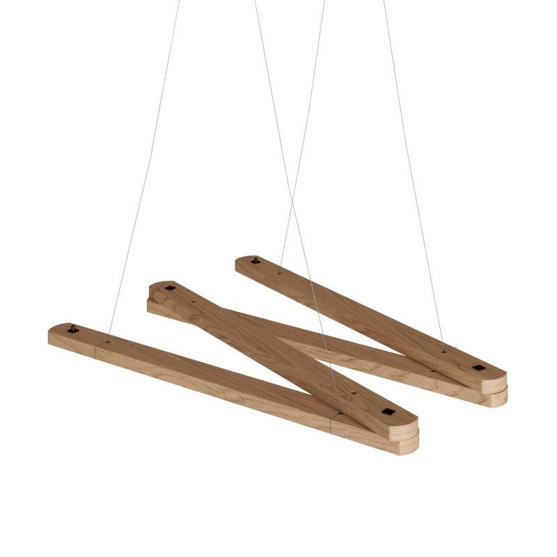 Zigh-Zagh, verstellbare Deckenhalterung aus Holz für Pendelleuchten