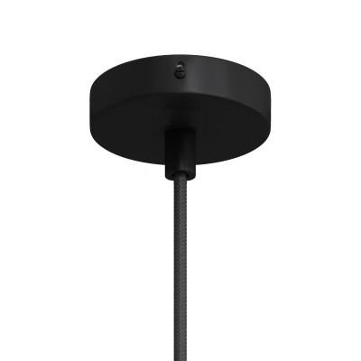 Kit runder Mini Lampenbaldachin aus Metall mit 1 zentralen Bohrung