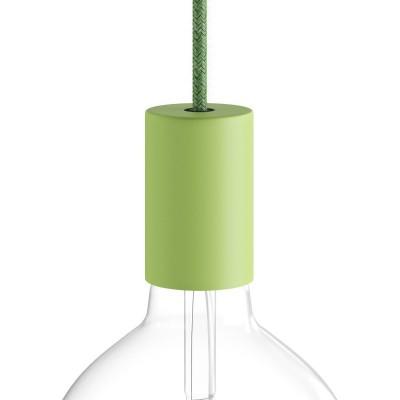 Kit E27 Pastell Lampenfassung aus Metall mit verdeckter Zugentlastung