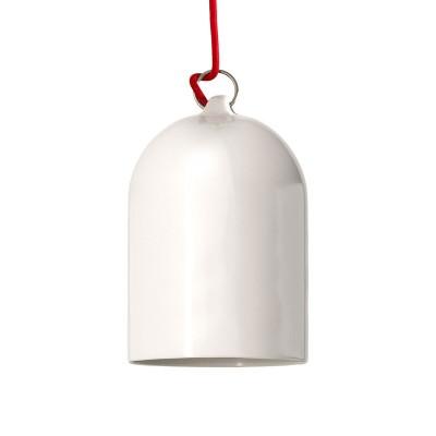 Glockenförmiger Lampenschirm XS aus Keramik zum Aufhängen - Made in Italy
