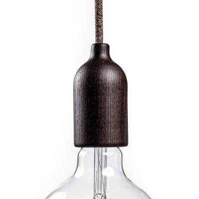 Kit E27 Lampenfassung aus Holz mit verdeckter Zugentlastung