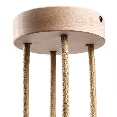 Kit zylinderförmiger Holz-Baldachin mit 4 Ausgängen