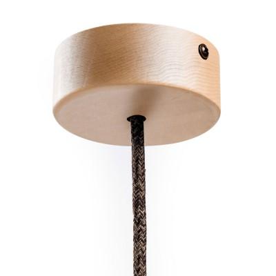 Kit runder Mini-Baldachin aus Holz mit einem zentralen Loch