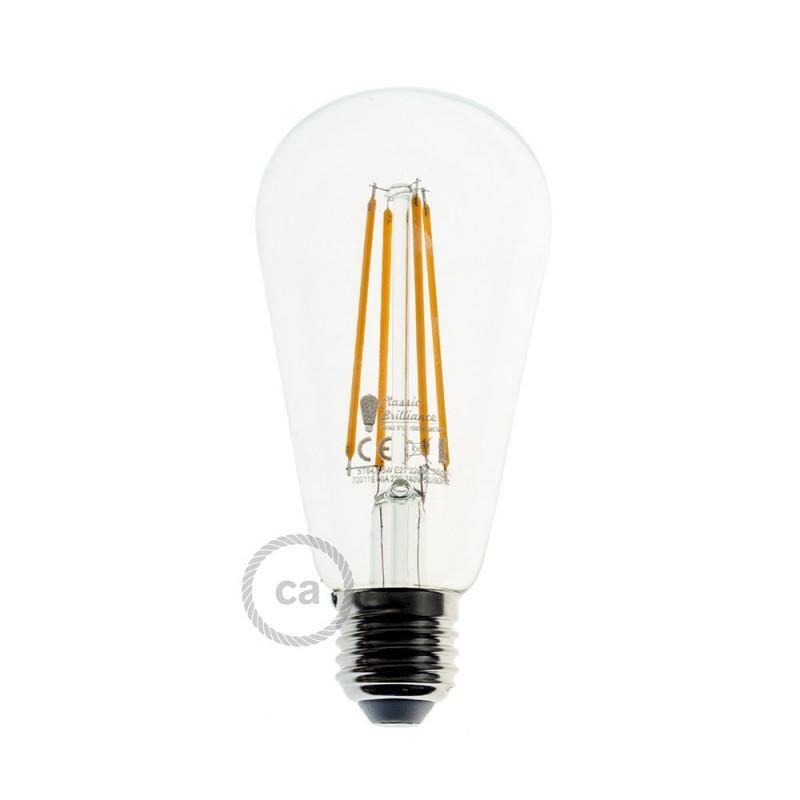 Pendelleuchte inklusive Textilkabel, Ghostbell XL Lampenschirmkäfig und Metall-Zubehör - Made in Italy