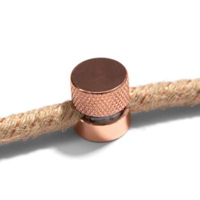 Sarè - Wand- und Deckenpin, Kabelführung aus Metall für Textilkabel