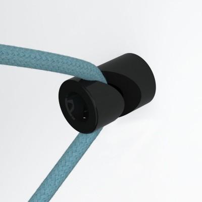 Wandbefestigung mit V-förmiger Halterung für Textilkabel, für Wand oder Decke