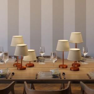 Alzaluce für Lampenschirm - Tischleuchte mit Textilkabel, Schalter und 2-poligem Stecker