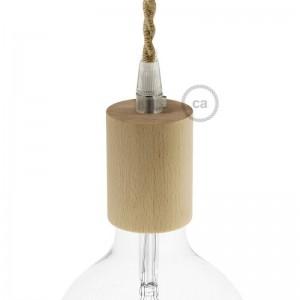 E27-Lampenfassungs-Kit aus Holz