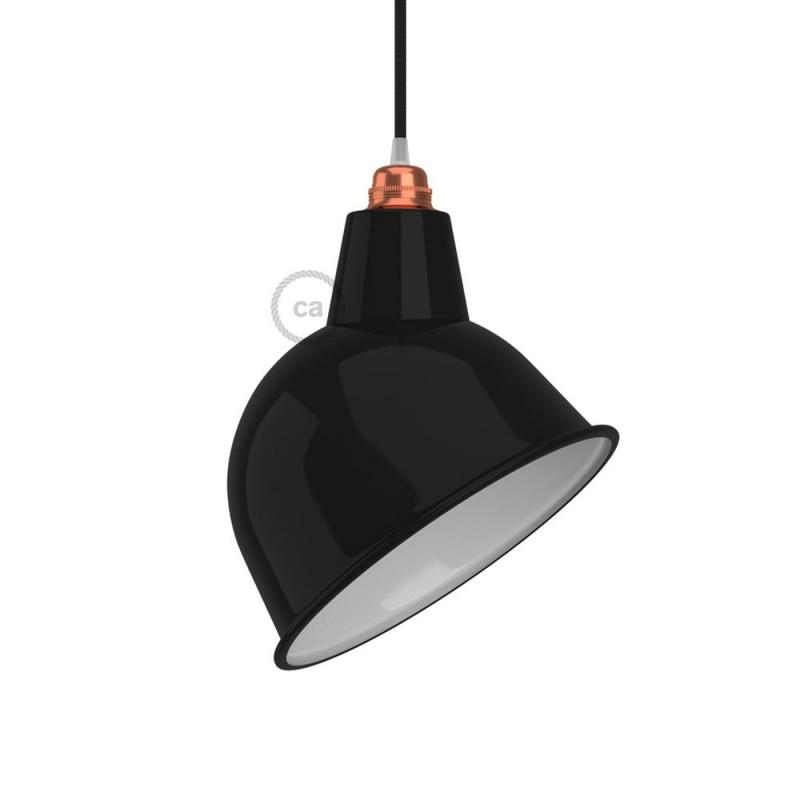Lampenschirm Broadway aus lackiertem Metall mit E27-Anschluss