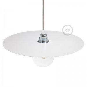 Lampenschirm Ellepi Oversize mit Eisenbeschichtung, 40 cm Durchmesser zum Aufhängen - Made in Italy
