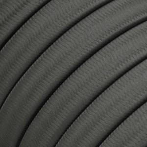 Elektrisches Kabel für Lichterketten, überzogen mit Grau Textilgewebe Seideneffekt CM03