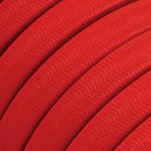 Elektrisches Kabel für Lichterketten, überzogen mit Rot Textilgewebe Seideneffekt CM09