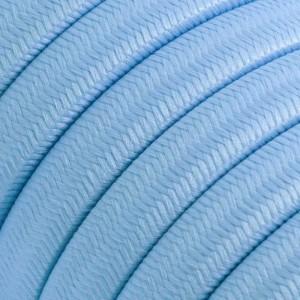 Elektrisches Kabel für Lichterketten, überzogen mit Baby Blau Textilgewebe Seideneffekt CM17