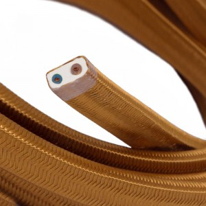Elektrisches Kabel für Lichterketten, überzogen mit Whiskey Textilgewebe Seideneffekt CM22