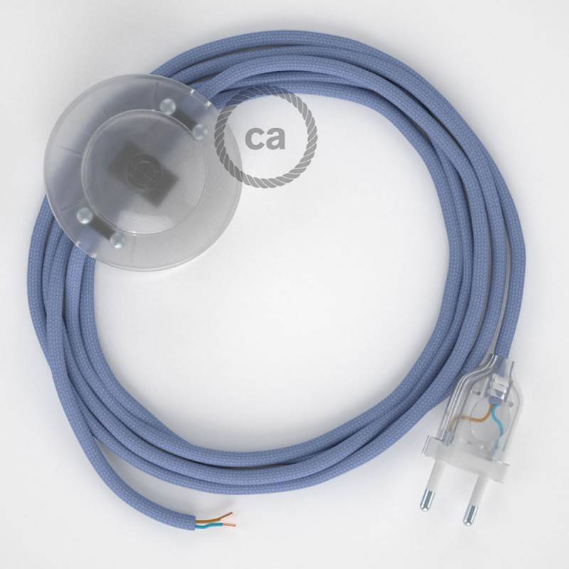 Stehleuchte Anschlussleitung RM07 Lila Seideneffekt 3 m. Wählen Sie aus drei Farben bei Schalter und Stecke.