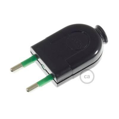 Stecker Schwarz 2 polig 10A (klein) – IMQ – Made in Italy