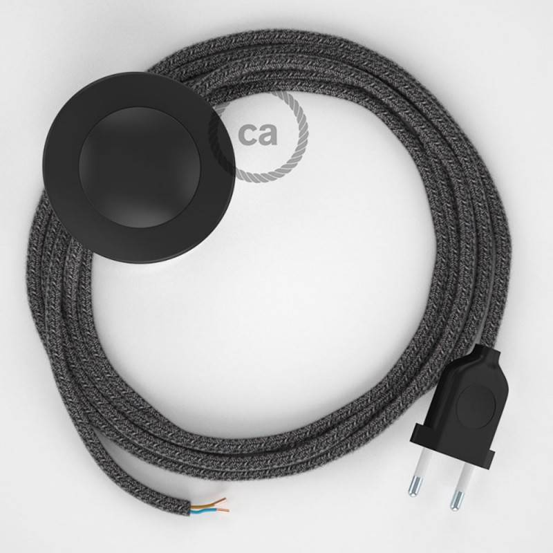Stehleuchte Anschlussleitung RS81 Schwarz 3 m. Wählen Sie aus drei Farben bei Schalter und Stecke.