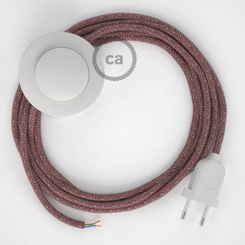 Stehleuchte Anschlussleitung RS83 Rot 3 m. Wählen Sie aus drei Farben bei Schalter und Stecke.