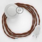 Stehleuchte Anschlussleitung TC23 Damhirsch Baumwolle 3 m. Wählen Sie aus drei Farben bei Schalter und Stecke.