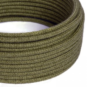Rundes Textilkabel, Jute, einfarbig Baumrindenfarben, RN26