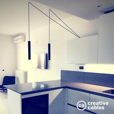 Be Creative #1: Doppelte Pendelleuchte in der Küche über der Theke