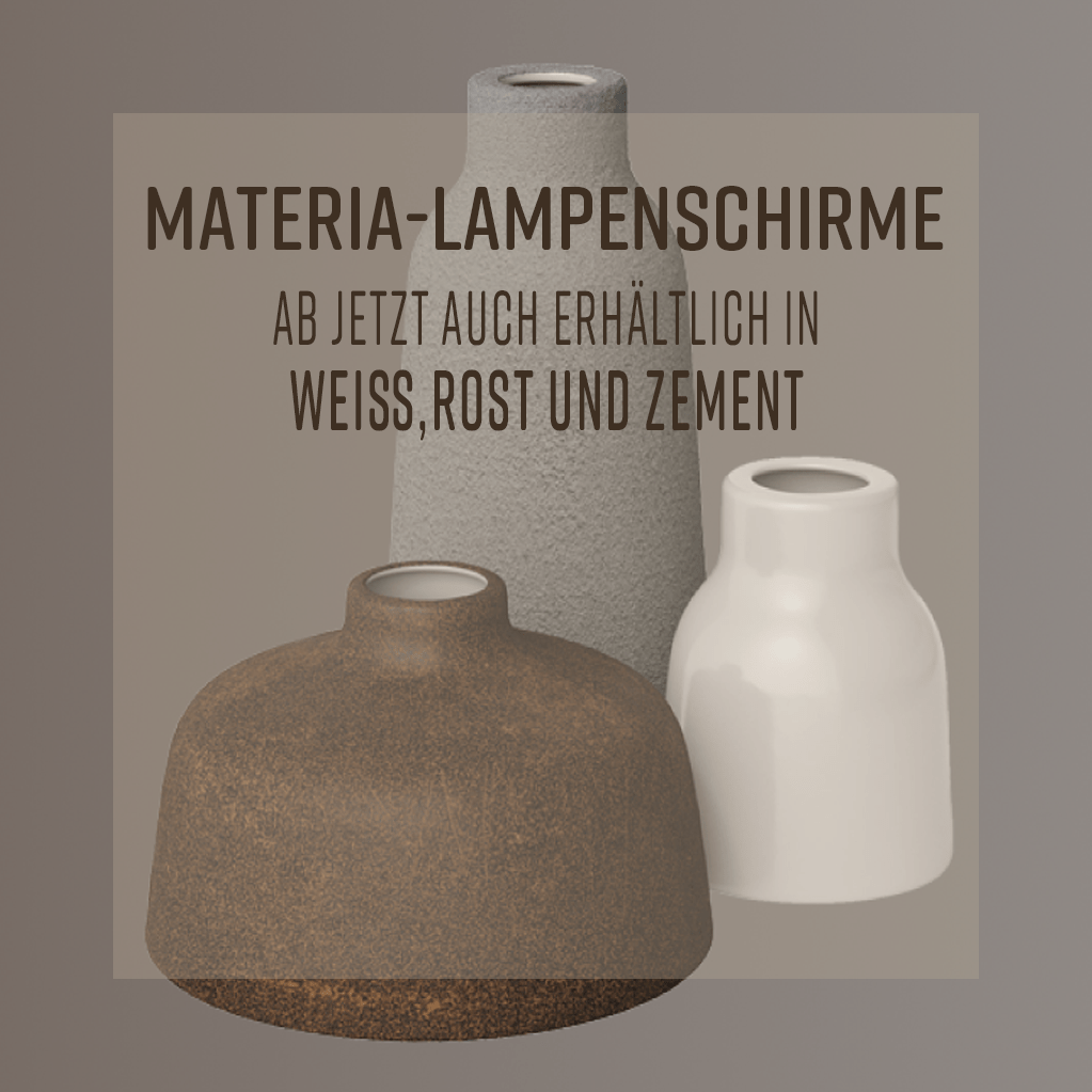 Materia-Lampenschirme Slider